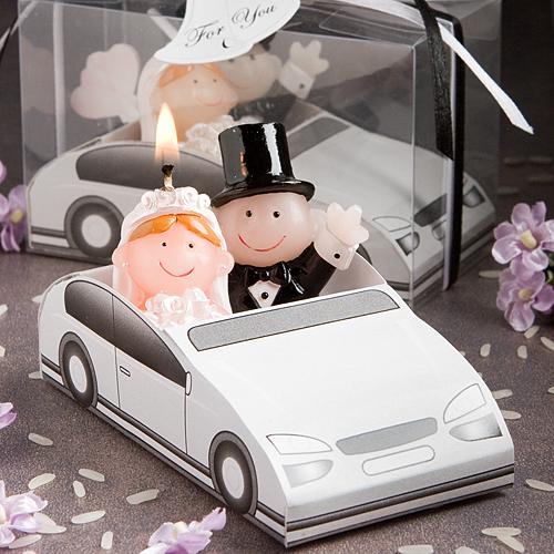 Cute Bride Groom Candle Wedding Favor Lg