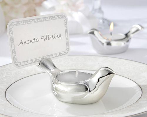 Wedding Favors: Wedding favors, love bird tealight candle wedding ...